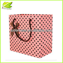 Pink personalized paper shopping bags