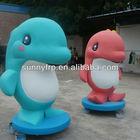 Fiberglass fish statue mascot