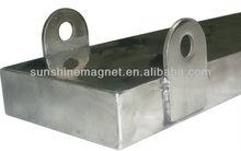 super strong plate magnet, for separating ferrous objects,custom design, 10000+ Gauss