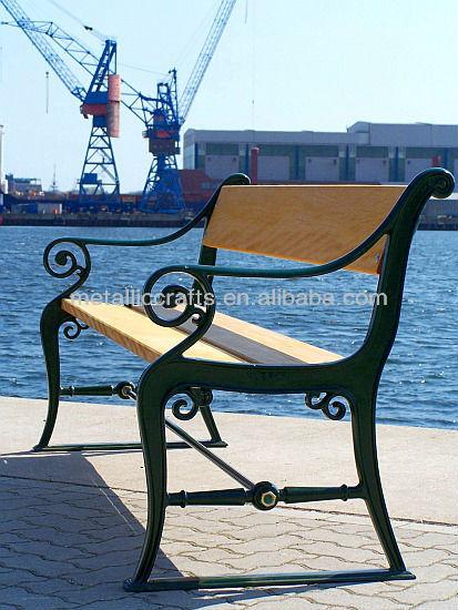 antique cast iron outdoor garden patio bench
