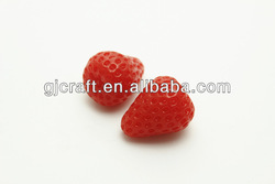 Sweet deco parts miniature PVC Simulation Fruits strawberry