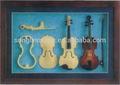 Fhbv violino mini moldura, violino,instrumento musical, presentes de aniversário, presentes, ornamentos, souvenir