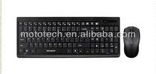 wireless basso-relievo cute keyboard mouse combo