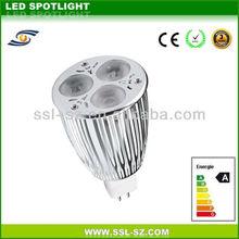 CE&ROHS approved 9W Hight brightness led spot light mr16 220v gu5.3