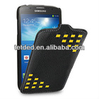 TETDED Premium Leather Case for Samsung Galaxy S4/IV Active I9295 SGH-i537 -- Troyes (Weave: Black044)