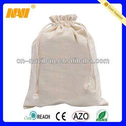 Stylish eco blank cotton drawstring bag-CT039)