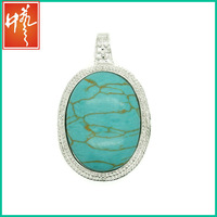 Synthetic turquoise beads make into pendant
