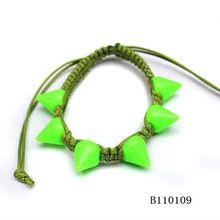 The newest style popular fluorescent acrylic rivet bracelet