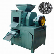 Coal/charcoal dust briquette making machine with high pressure roller