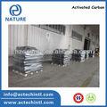 Densidad de carbono activado granular