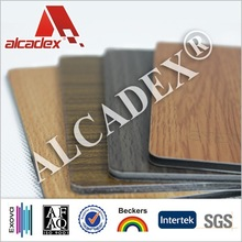 acp wood finishing decorative construction, aluminum composite panel, building material