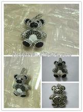 Cool beautiful popular bear jewelry diamond USB flash drives/stick/pendrive/pen drive/disk necklace gift