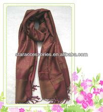 viscose acrylic paisley jacquard pashmina shawl