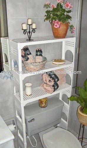 Over the knee aseo del ahorrador del espacio estantes otros muebles ba o identificaci n del - Estanteria sobre inodoro ...