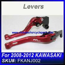 For 2008 2009 2010 2011 2012 KAWASAKI 250 NINJA brake lever with NINJA logo RED