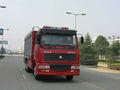Lutte contre l'incendie de camion de howo 6*4 eau, vieux camions de pompiers, utilisés vente camion de pompier
