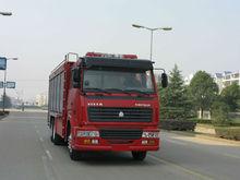 Howo 6 * 4 l'eau de lutte contre l'incendie camion, Vieux camions de pompiers, Utilisé camion de pompiers à vendre