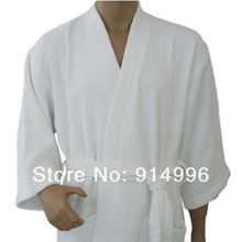 Zhejiang hangzhou most professional bathrobe classic terry waffle weave 100% cotton fabric with white color
