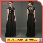 2014 new women sleeveless lace appliqued maxi evening dresses.