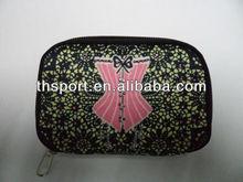 Zippered neoprene wallet money bag