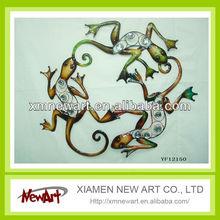 Home Garden Decor Gecko Lizard Painted Metal Wall Art Metal lizard Wall Art