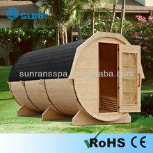Unique barrel design dry sauna new outdoor sauna house