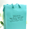 blue color personalized euro tote paper bag