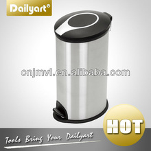Dailyart Round Plastic stainless steel lid trash can (V011045) C
