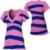 Ladies v neck t shirt with custom print