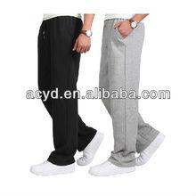 Summer mens cotton sweatpants loose big yards basketball running pants