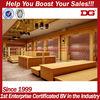 CAMEL classic design golden brown veneer mdf board shoe display stands