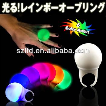 elegant led flashing finger ring light