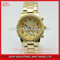 R0482 2013 caliente venta del negocio de acero inoxidable reloj, crono/reloj cronógrafo reloj de oro