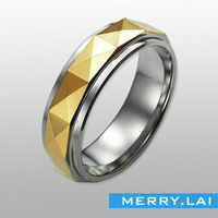 konov jewelry classic ring stainless steel plated gold band ring OEM & ODM jewelry factory