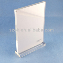Clear acrylic two side picture photo display frame