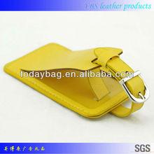 custom design wholesale leather luggage tags