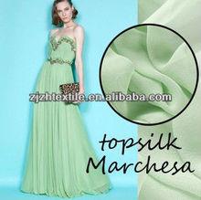 silk fabric Powder fruit-green one hundred percent silk georgette