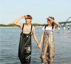 High elastic knitting pvc wader,waterproof wader suit ,pvc chest fishing wader