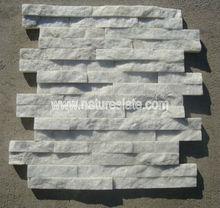 white stone wall cladding,Z shape white quartzite wall cladding