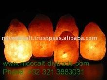 bella intagliato naturale himalayano rock lampada di sale cristallino