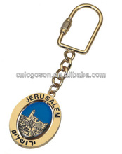 Promotional gift of metal oval keychain