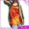 New Sumilation Print Woman A Yellow Fire Fist 3D Printing Tshirt For Girls With All Sizes 3D Printing Clothes RT0609