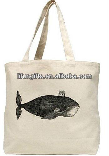 2014 custom printed canvas cloth tote bags