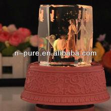 3D Laser Etched Crystal LED Light Base