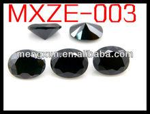 2015 natural special design fashion ellipse 3*5 black zircon