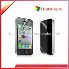 Hot Sell Ultra Clear Front and Back Screen Protector For Iphone4/5, High Crystal Screen Film