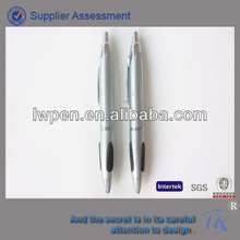 Fat barrel with soft grip new design metal cilck ballpoint pen