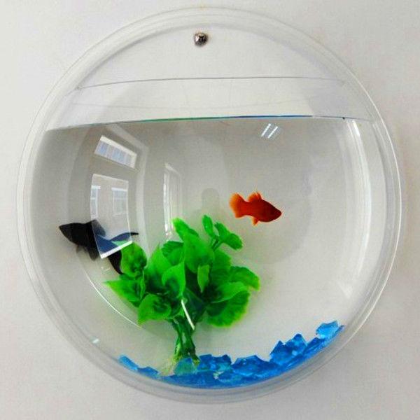 home decoration wall mounted acrylic fish tank