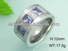High-grade Finger Jewelry Bar Setting Amethyst Ring