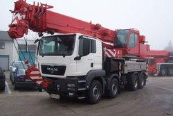FAUN HK 60 on MAN TGS 41.480 Mobile Truck Crane